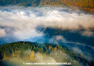 Orlícká přehrada a hejno hus /J32