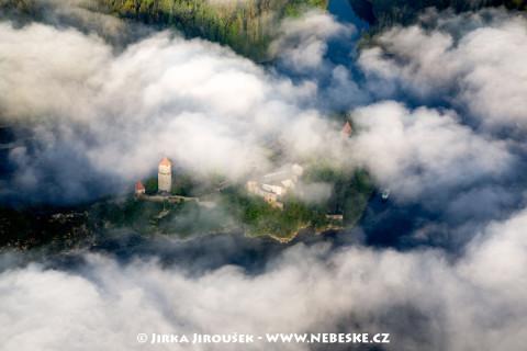 Tajemný hrad Zvíkov na soutoku Otavy s Vltavou /J25