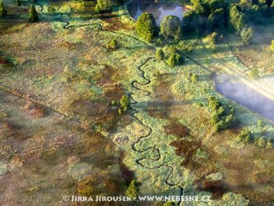 Padrť v Brdech s meandry potůčku /J835