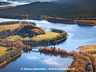 Železniční most a osada Hory u Nové Pece /J738