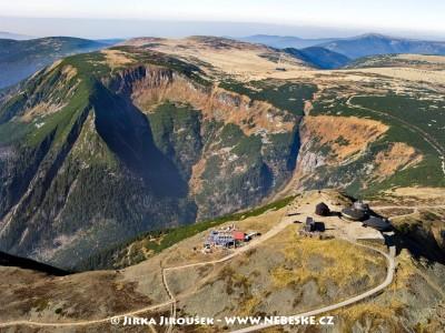 Vrchol Sněžky, Obří důl, Luční hora, Studniční hora, Luční bouda /J534