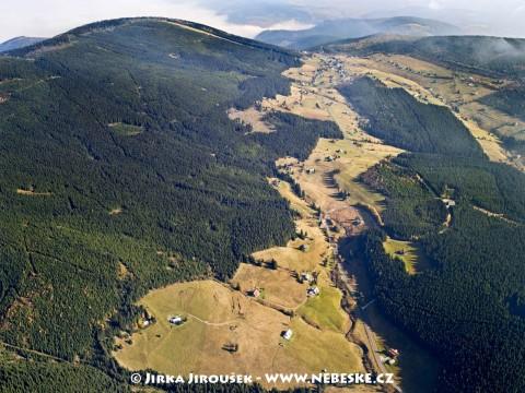 Horní Malá Úpa – Žacléřské boudy, Pomezní boudy, Lesní hřeben /J538