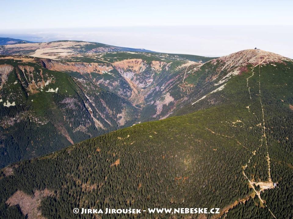 Růžová hora – trať lanovky na Sněžku, Obří důl /J541