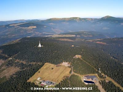 Černá hora – lanovka, Sokolská bouda, vysílač /J546