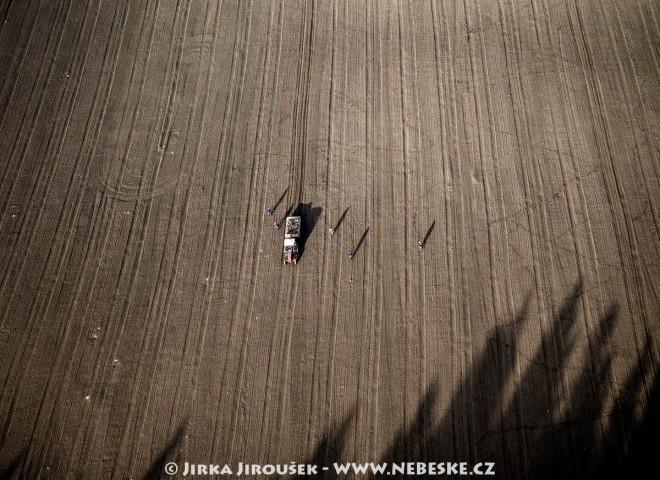 Sběr kamene na poli u Načeradce /J225