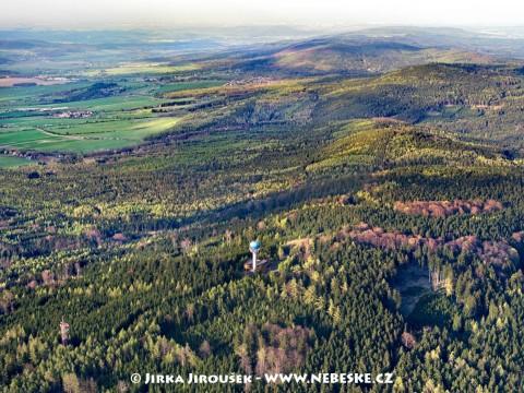 Radiolokátor na kopci Písek v Brdech /J196