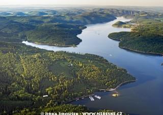 Orlická přehrada po proudu /J679