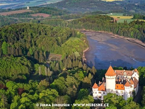 Konopiště – zámek s rybníkem /J641