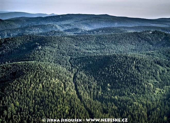 Jizerské hory mezi Libercem a Bedřichovem, Malinový vrch /J339