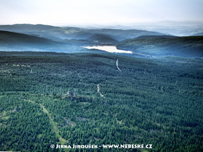 Černý vrch a vodní nádrž Souš /J368