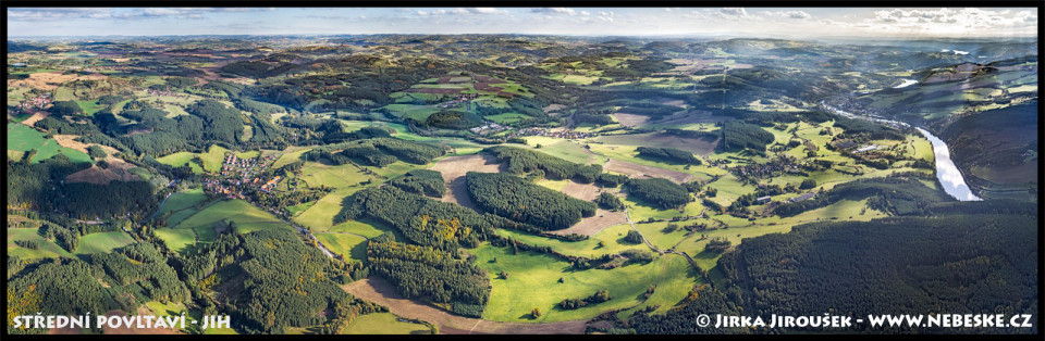Střední Povltaví – pohled na jih ke Kamýku a Orlíku J843