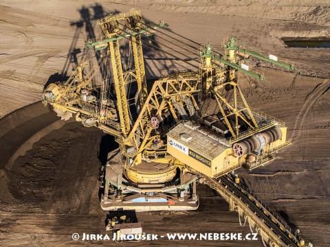 Kolesové rýpadlo UNEX KU800/13, důl ČSA řečený Armáda /J187