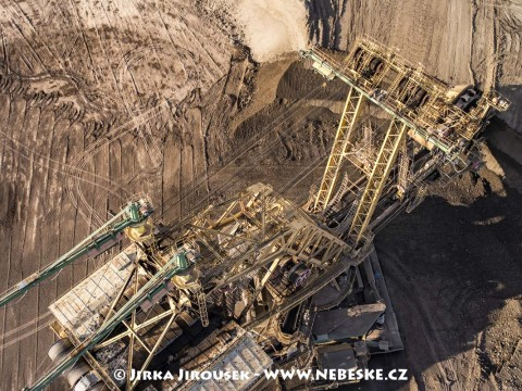 Detail kolesového rýpadlo UNEX KU800/13, důl ČSA řečený Armáda /J189