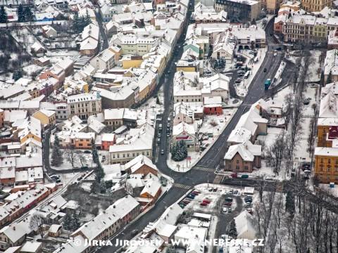 Zimní Jiráskovy sady /J931