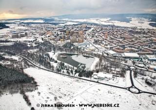 Zimní Nový rybník a Příbram /J932
