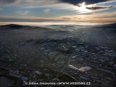 Pohled přes Březové Hory na Šumavu /J947