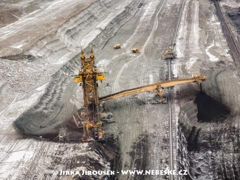 Kolesové rýpadlo UNEX KU800, Albertov, Sokolovská uhelná, povrchový důl Jiří /J157