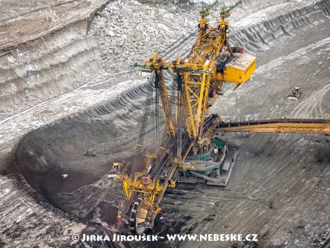 Kolesové rýpadlo UNEX KU800, Albertov, Sokolovská uhelná, povrchový důl Jiří /J158