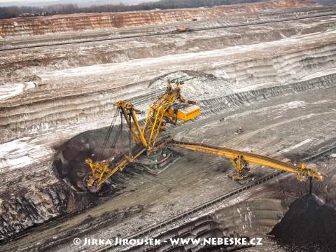 Kolesové rýpadlo UNEX KU800, Albertov, Sokolovská uhelná, povrchový důl Jiří /J159
