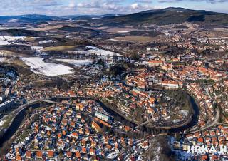 Český Krumlov – zimní panorama /J1069