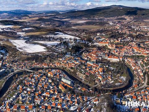 Český Krumlov – zimní panorama