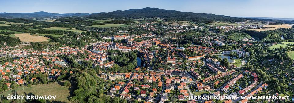 Český Krumlov – letní panorama /J1070