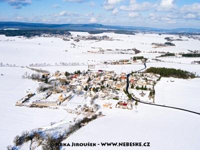 Modřovice a Příbram v pozadí /J1159
