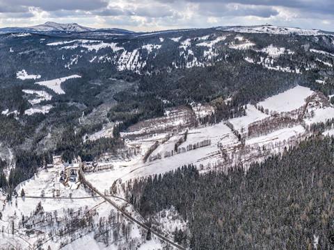 Srní – Mechov – Šumava – panorama