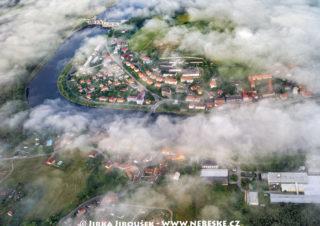 Kamýk nad Vltavou – přehrada a centrum /J1247