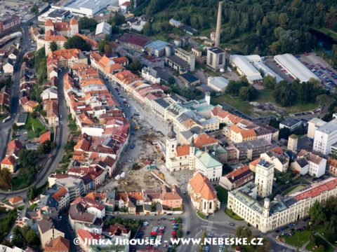 Mladá Boleslav – rozkopané náměstí J1327