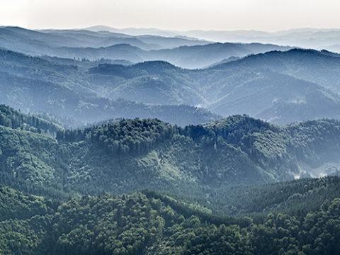 Hostýnské vrchy panaroma J1350