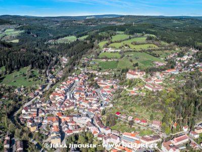 Vimperk – náměstí a zámek J1468