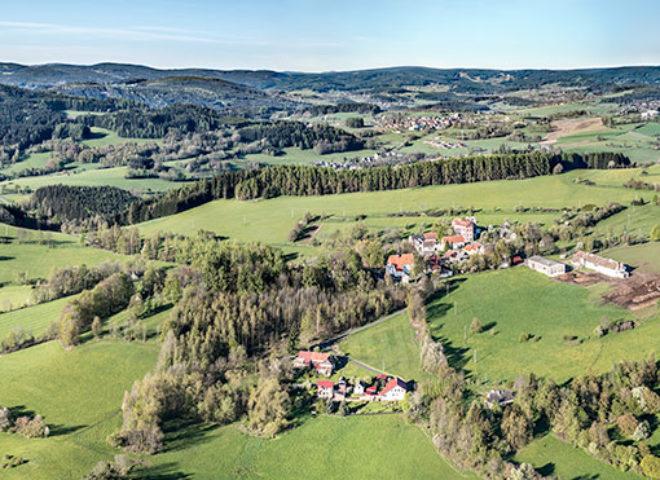 Panorama Dobrši a Šumavy J1533