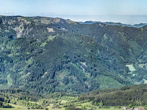Panorama Špičák – Černé jezero – Ostrý J1563