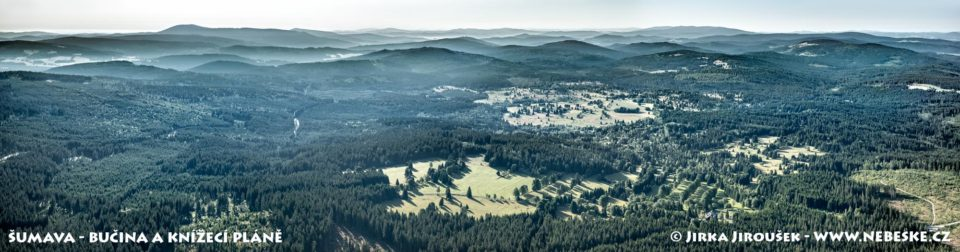 Šumava – Bučina a Knížecí Pláně panorama J1905