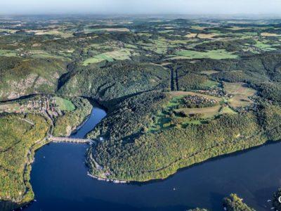 Slapská přehrada a Svatojánské proudy – panorama J1903