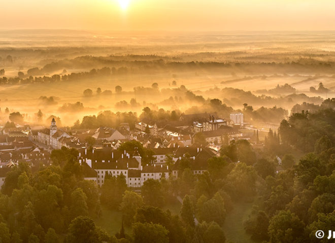 Třeboň – zářiová panorama J2076