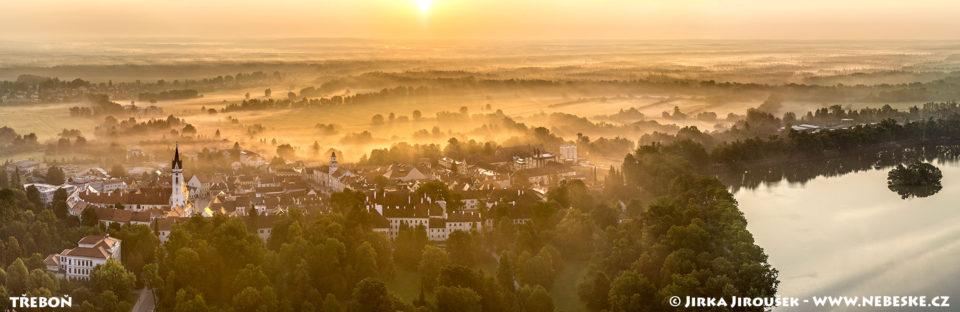 Třeboň – zářiová panorama J1924