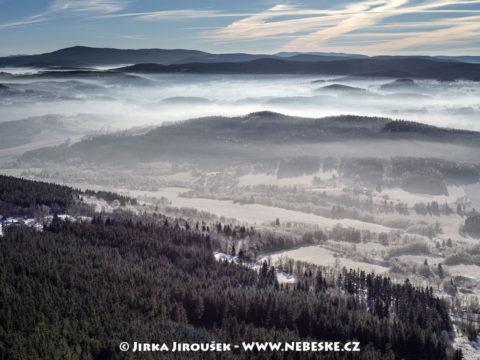 Pohled z Javorníku k Boubínu J1937