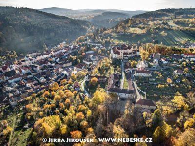 Zámek Vimperk a náměstí J1948