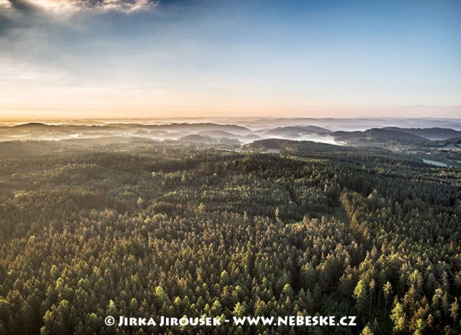Střední Povltaví  – lesy při východu slunce J2053