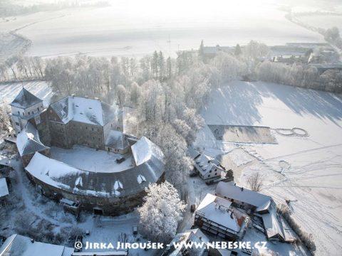 Rožmitál pod Třemšínem zámek v zimě J2228