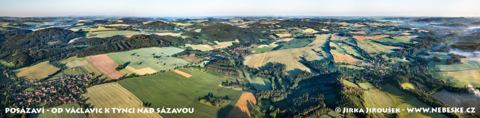 Posázaví Týnec až Václavice – panorama J2232