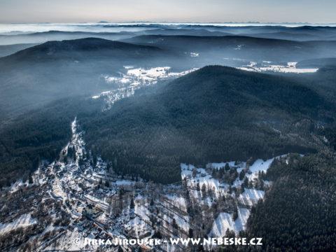 Dobrá Voda v Novohradských horách v zimě J2598