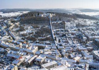 Zimní Příbram a Svatohorské schody J2619