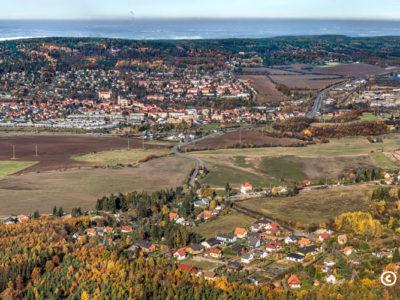 Mníšek pod Brdy – panorama podzimní J2751