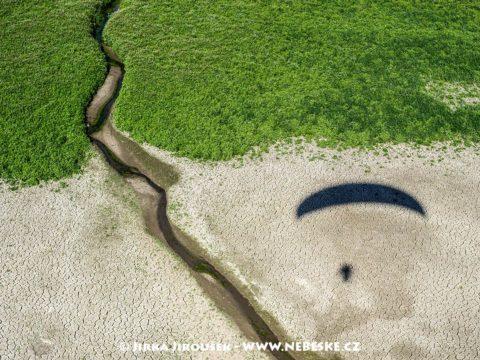 Vypuštěný rybník zarůstá J2773