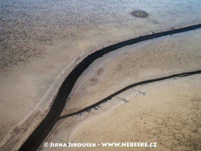 Rybník Rožmberk na dně J3319
