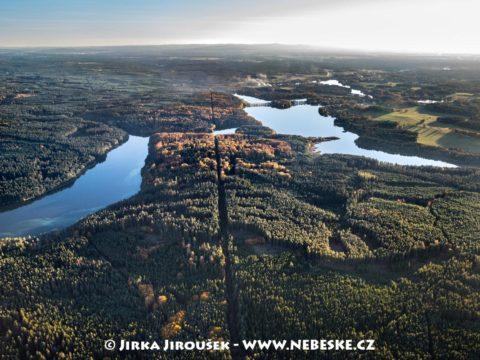 Staňkovský rybník letecky J3329